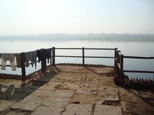 Dried Cow Dung in Varanasi